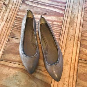 Frye Ballet Flats, Grey 7.5